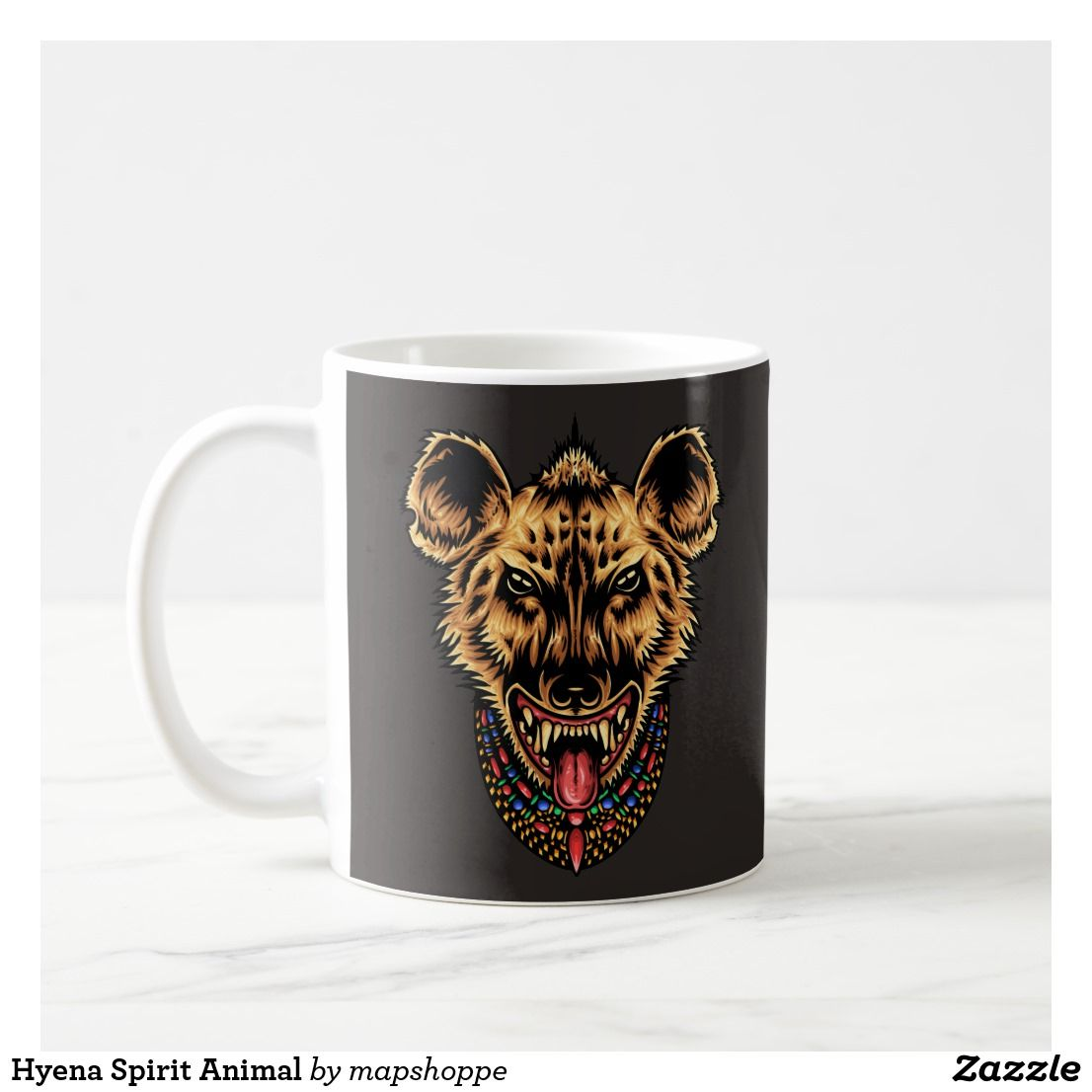 Animal Coffee Cups Hyena Spirit Animal Coffee Mug More Animal Designs In Our Zazzle