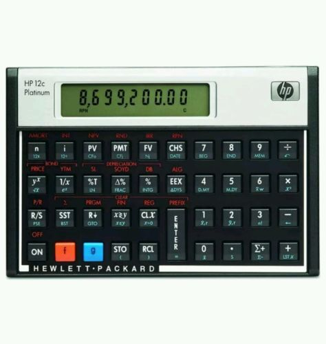 Calculators Hp 12C Platinum Financial Calculator BUY IT NOW ONLY - financial calculator