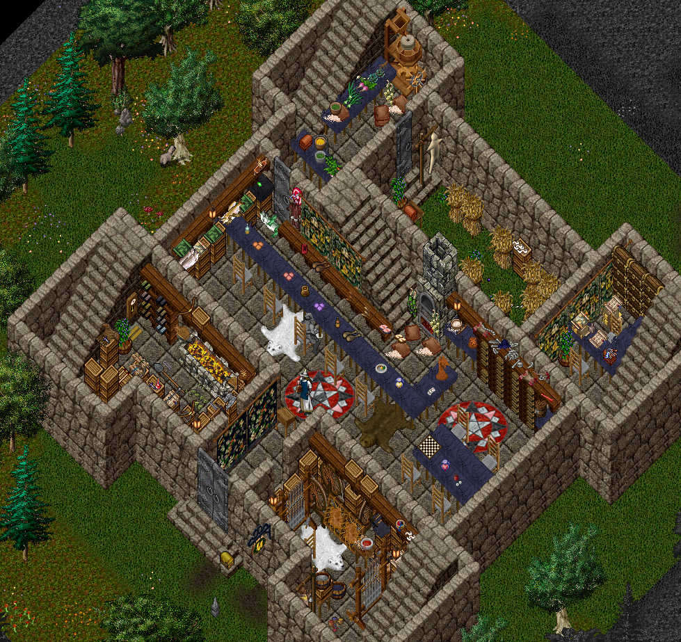 One of the custom houses avaialble on the renaissance ultima online free server www uorenaissance com