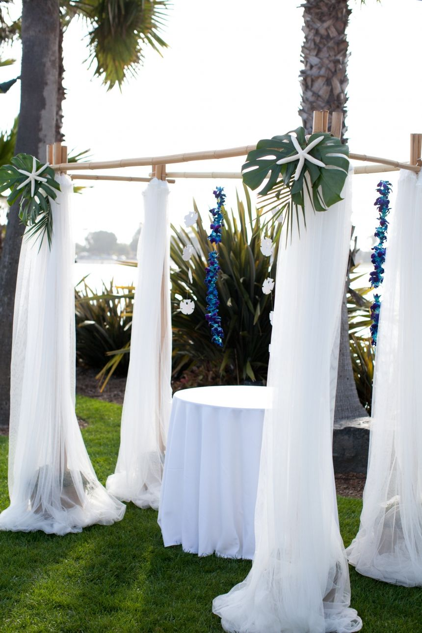 At the beach - use the trees to create your special moment space ...