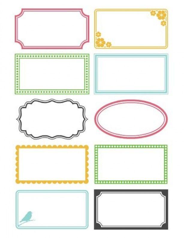 Super Leuke labels om uit te printen! (met afbeeldingen)   Afdrukbare YJ-02