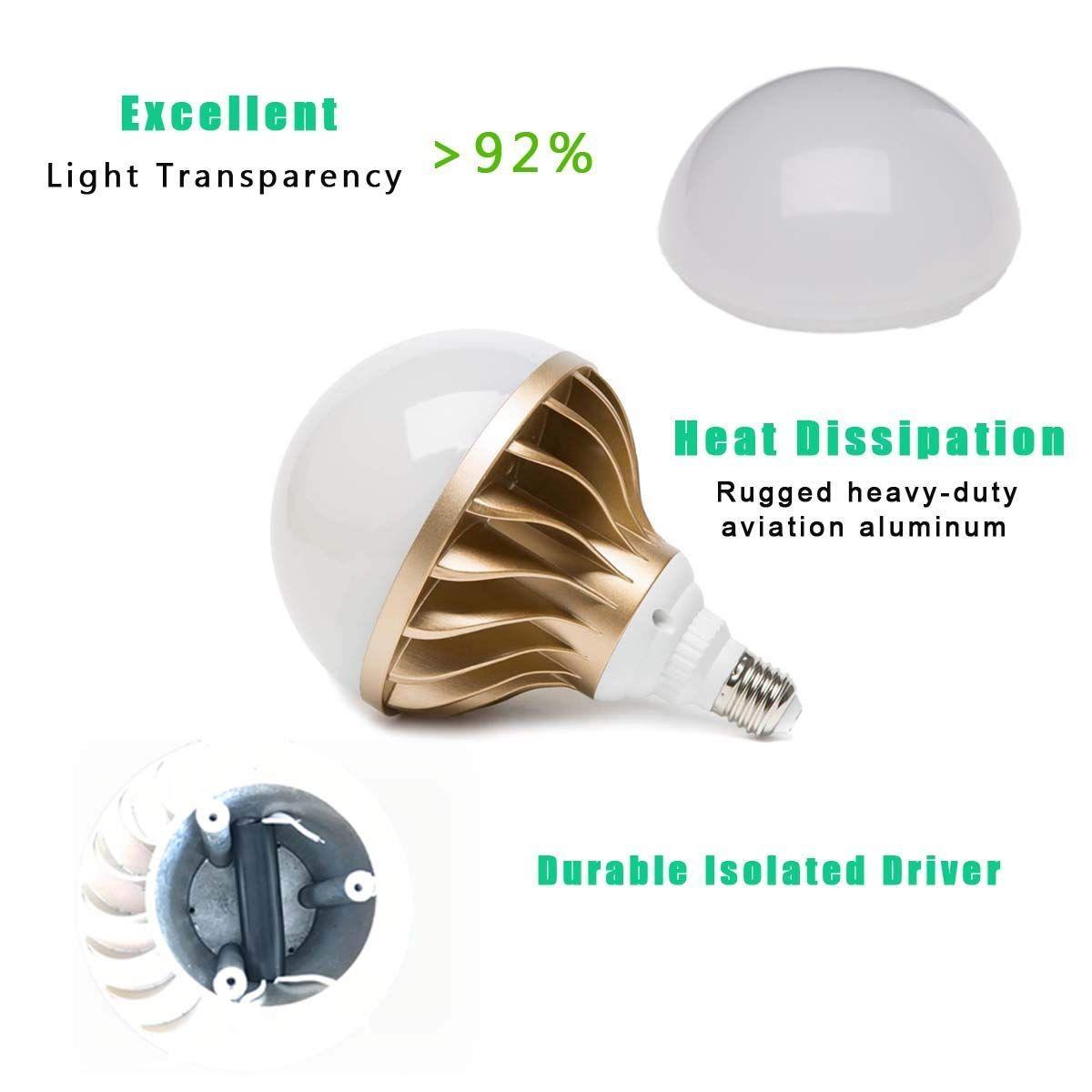 Led Light Bulb 300 Watt Equivalent Alddn 45w 4800 Lumens Daylight 5000k Non Dimmable Daylight Amazon Com Led Light Bulb Bulb Led Bulb