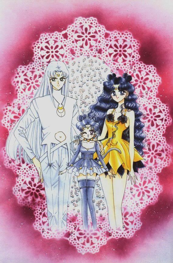 Sailor Moon cats: Luna, Artemis, and Diana in human form (manga ...