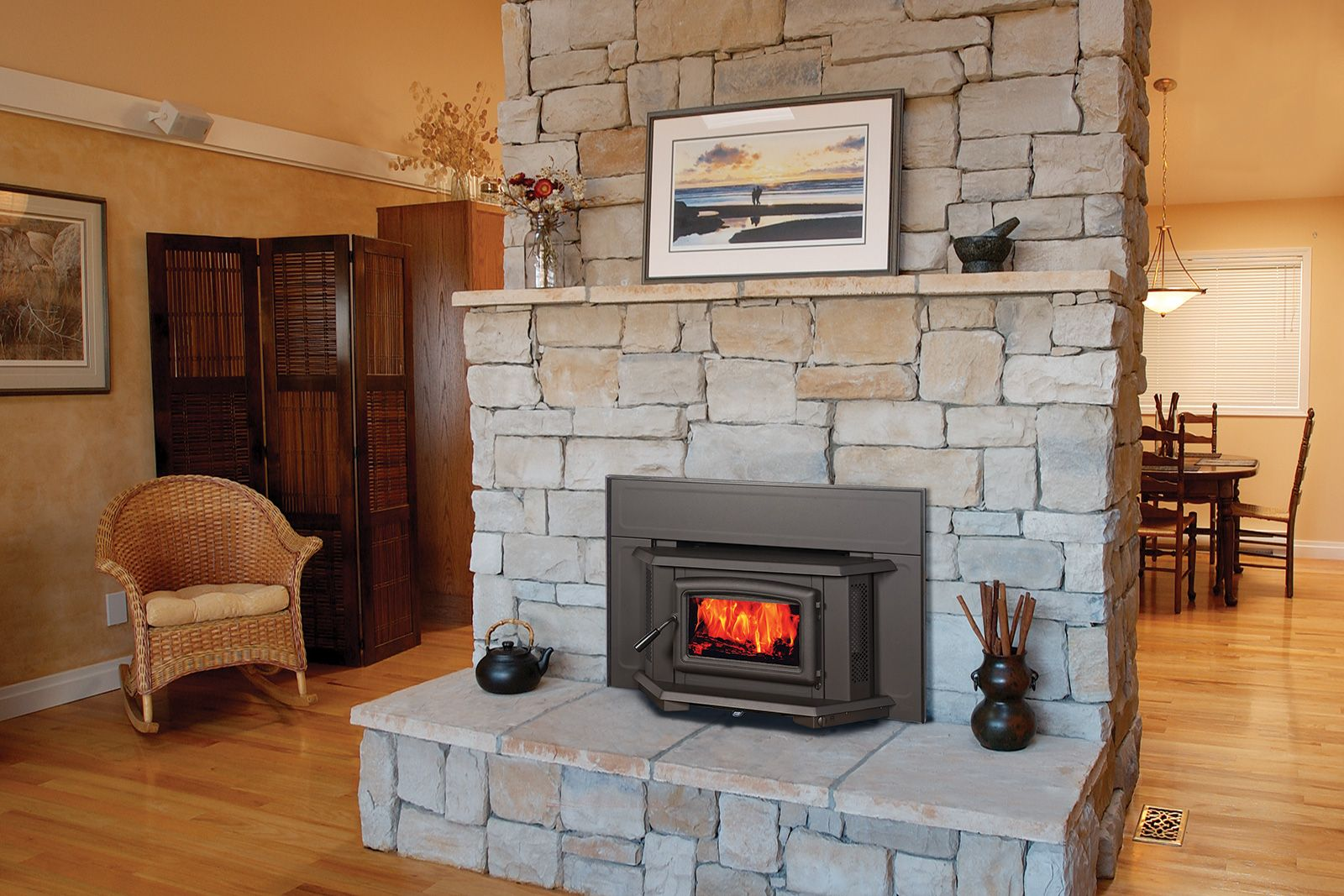 Image Result For Wood Insert Small Old Fireplace