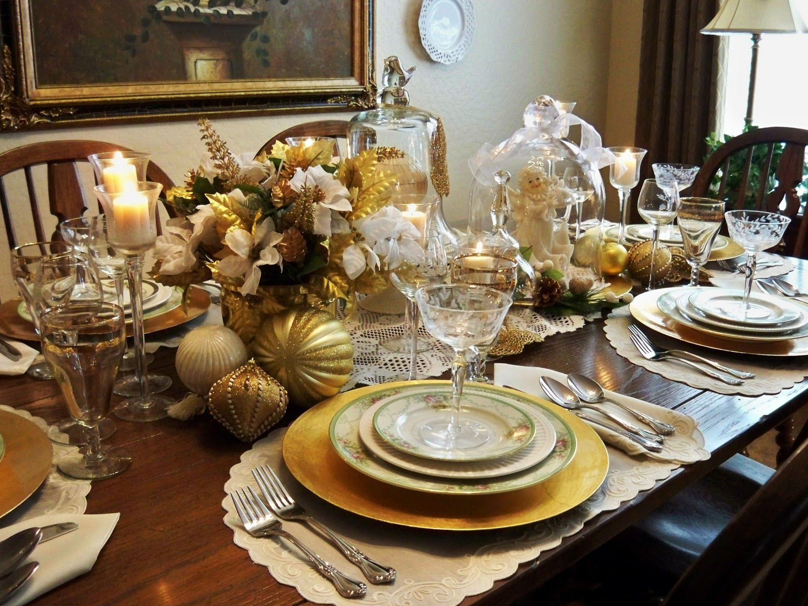 elegant christmas table settings | Most of the items to create this tablescape were thrift shopping & elegant christmas table settings | Most of the items to create this ...