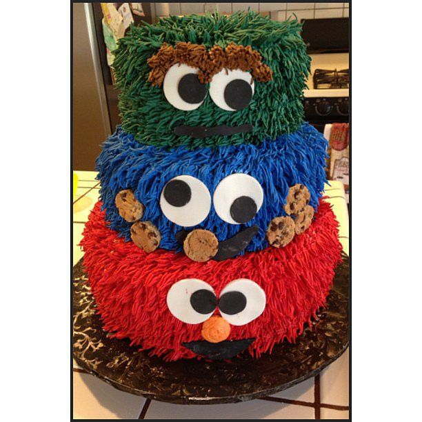 Can You Tell Me How to Bake a Sesame Street Cake Sesame street