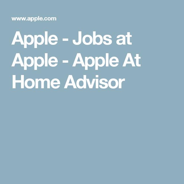Apply for apple at home advisor