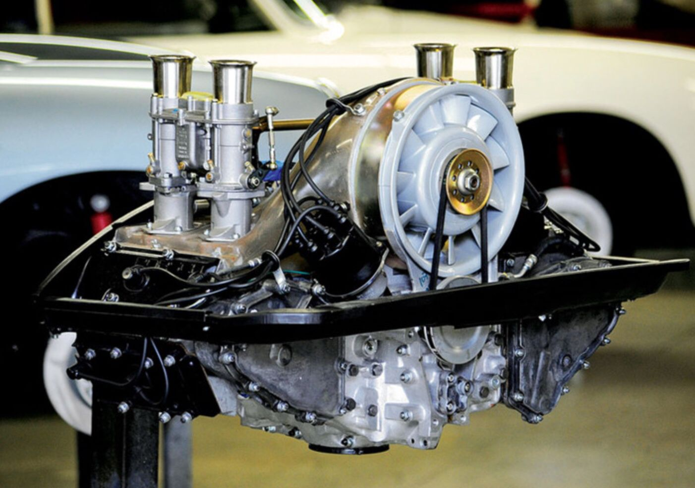 The POLO motor. DOHC, Air cooled, twinplug Flat four. The
