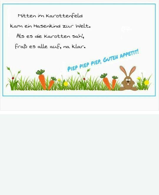 Tischspruch hase | Ostern | Pinterest | Tischsprüche, Hase und ...