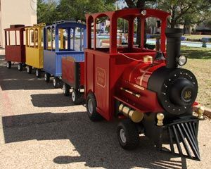 All Aboard trackless train rental Wills Birthday Party Ideas