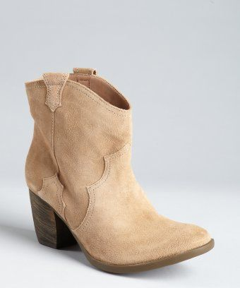 $118.40 Madison Harding : beige suede 'Miller' ankle boots : style # 319765202