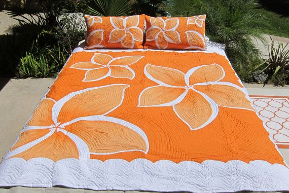 CHAUSUB Solid Red Summer Quilt Set 3PCS 100% Cotton Quilts