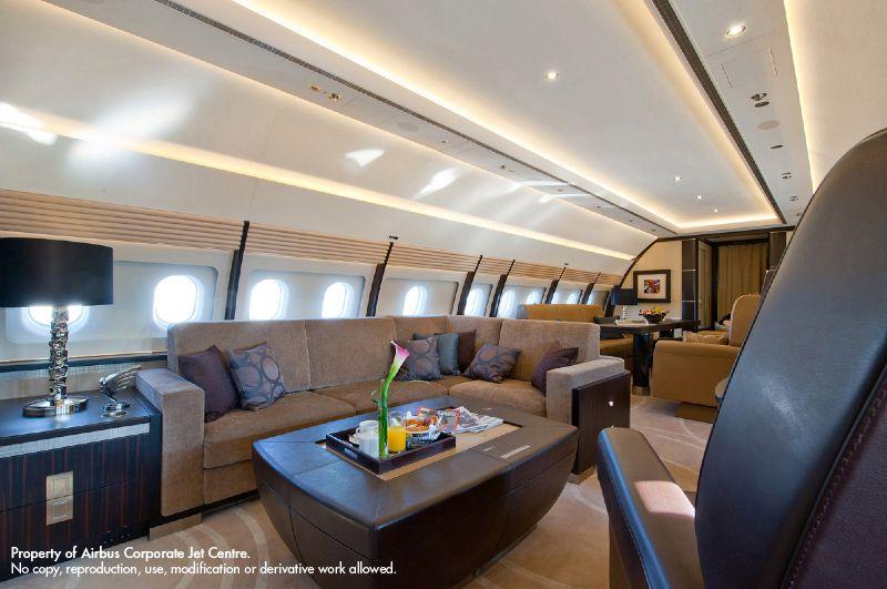 Portfolio Airbus Corporate Jet Centre Private Jet Interior Contemporary Cabin Aviation