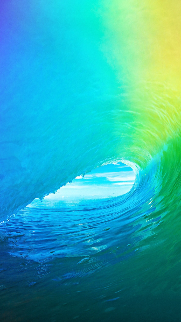 Ios 9 Optimised For The Iphone 6 1334 X 750 Waves