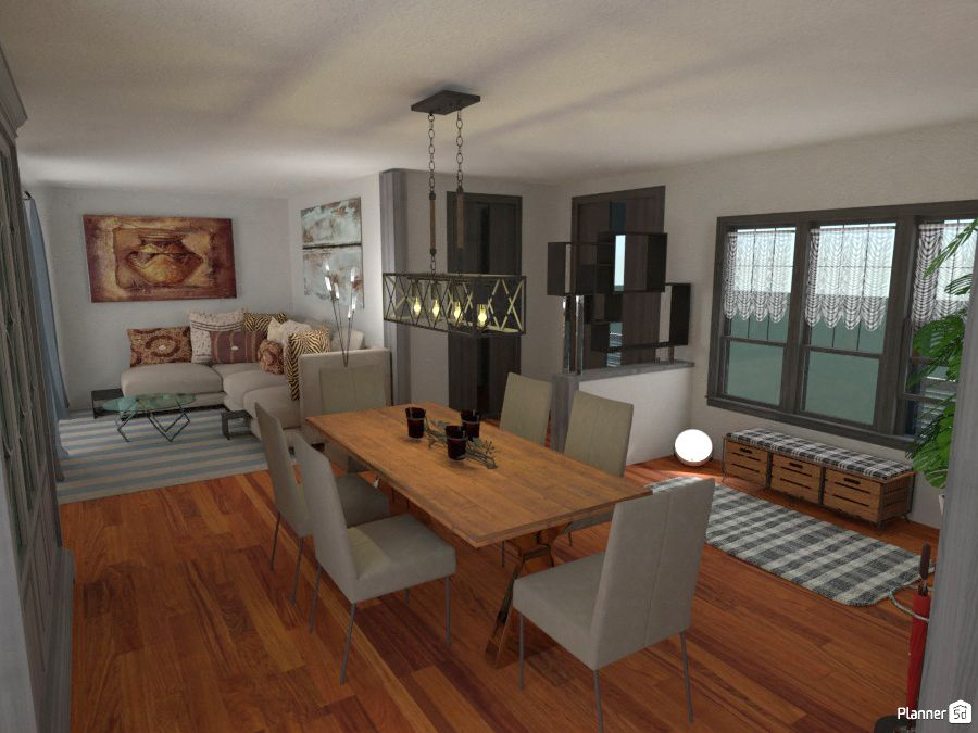 Dining And Living Room Interior Ideas Planner 5d Best Home