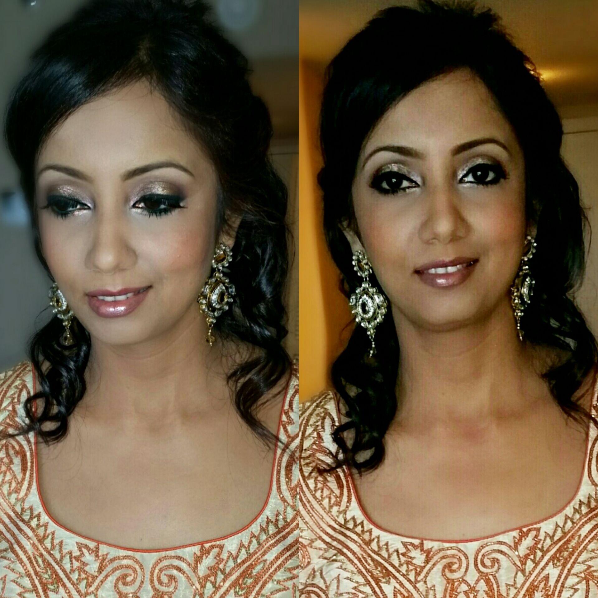 Hollywood glam hair makeup glamour makeup wedding