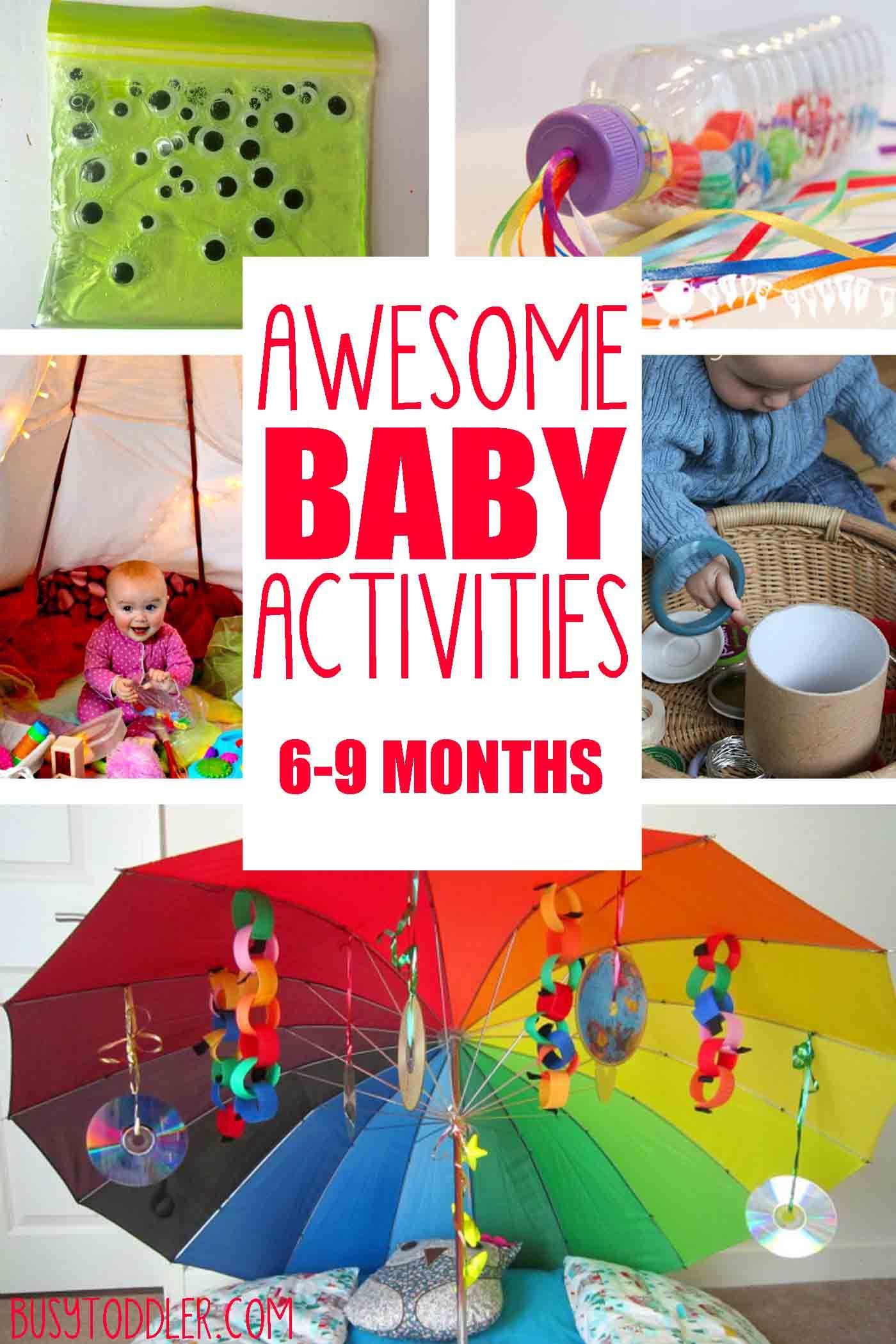 Juguetes Para Bebes De 20 Meses.20 Fun Easy Baby Activities Baby Actividades Para