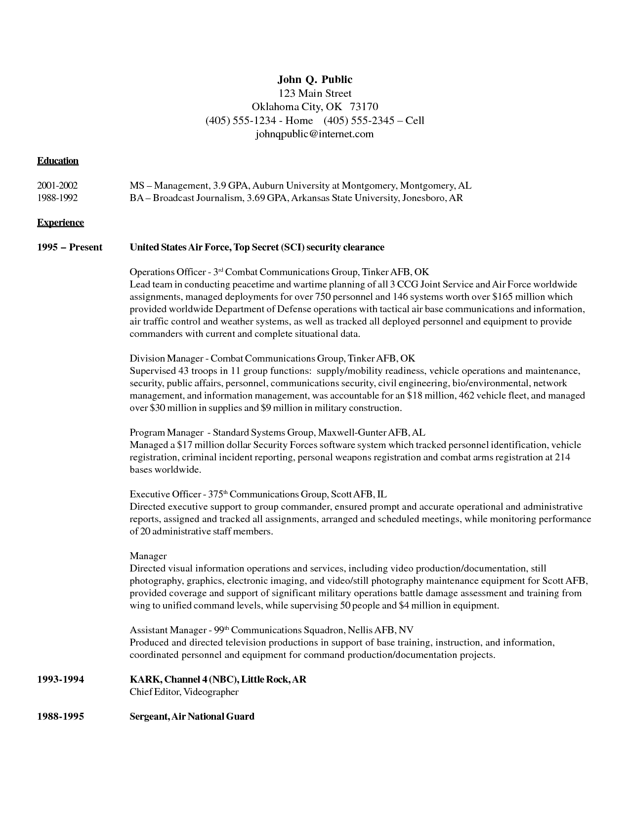 Security Officer Resume Http Www Resumecareer Info Security