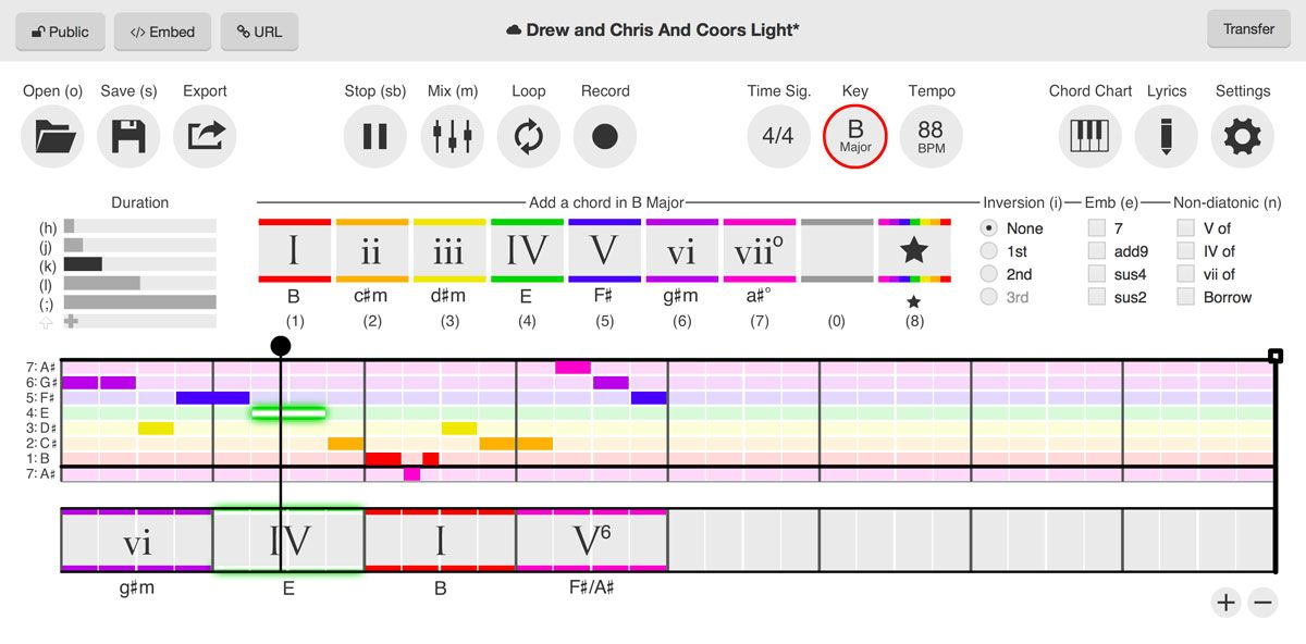 Free software that simplifies songwriting Hookpad