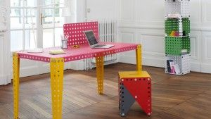 awesome MECCANO Metal Modules: Evolving Furniture to Fit Your Needs