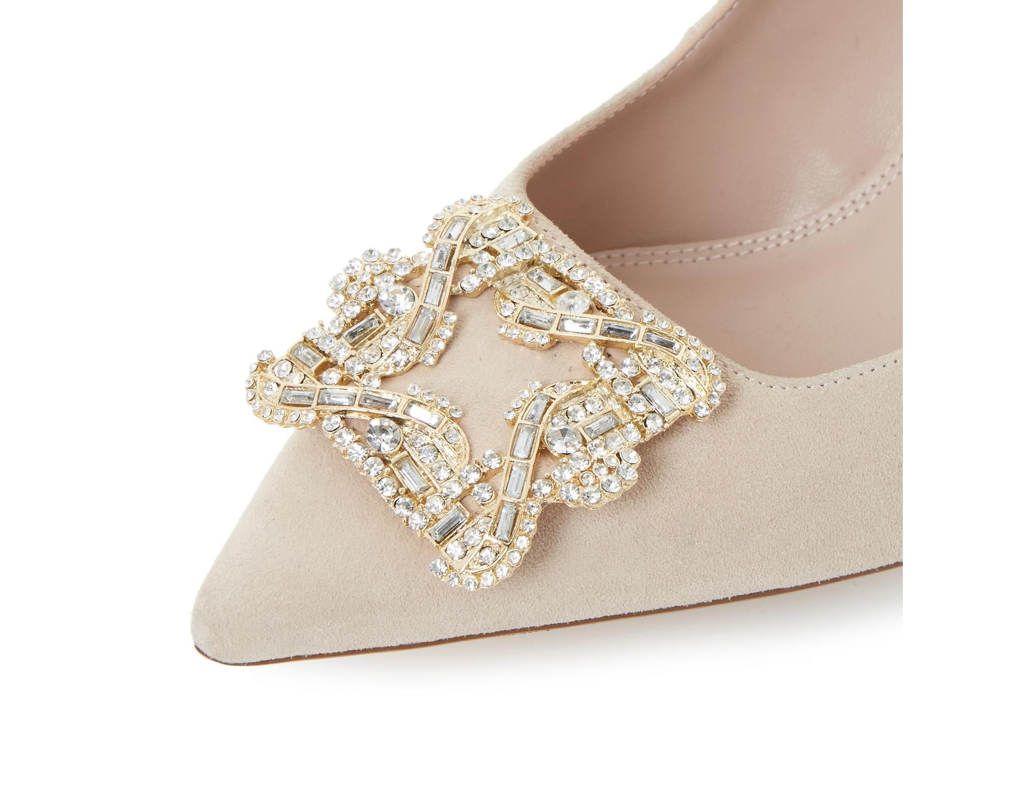 f107aa66f17 Be the belle of the ball in this stunning jewelled brooch court shoe.  Styled with