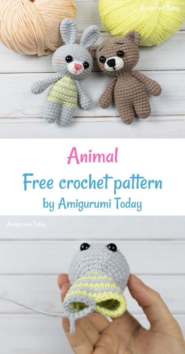 Free tiny crochet animal patterns | Crochet bear, Crochet animal patterns,  Crochet teddy bear pattern | 1150x600