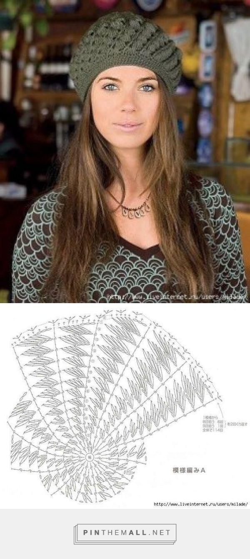Gorro tejido a crochet - PatronesMil - created via http://pinthemall ...