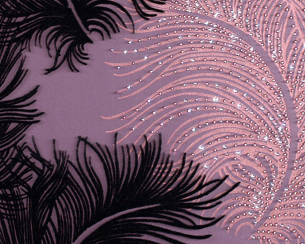 Beautiful Swarovski wallpaper. I would love to have this in my home.
