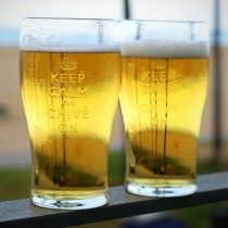 Keep Calm and Chive On Pint Glass 2-Pack  - The Chivery
