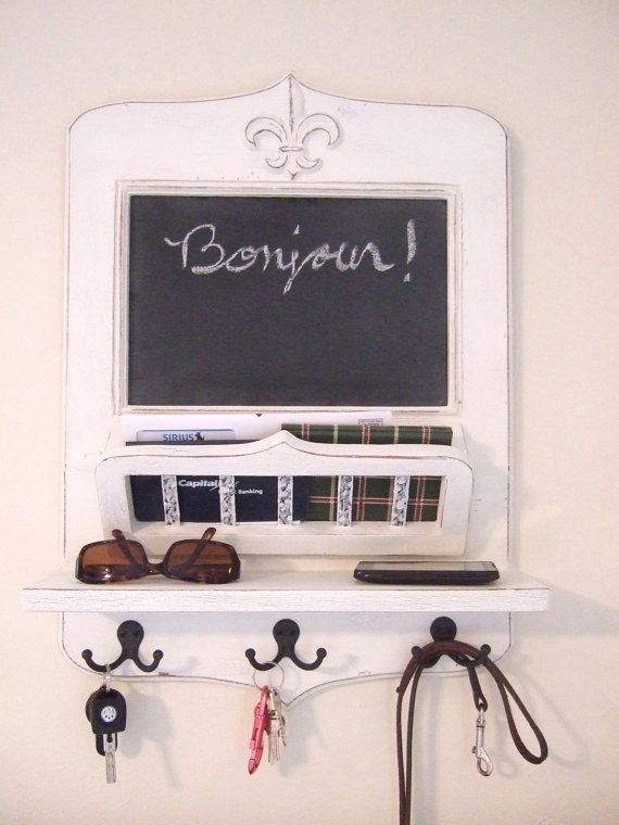 The Parisian Home Metro Center Vintage Style Chalkboard Mail Basket And Key Hooks I Want This Key Hooks Home Deco Key Hook Diy
