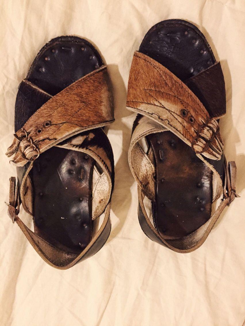 Huaraches De Pelo Cruzados Huaraches Huarache Mexicanos Sandalias De Cuero Zapatos Huarache