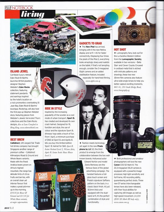 Spotted Elle Singapore Features Lomography Camera Http Www Lomography Com Magazine News 2012 05 25 Spotted Elle Singapore Fea Lomography New Ipad Singapore