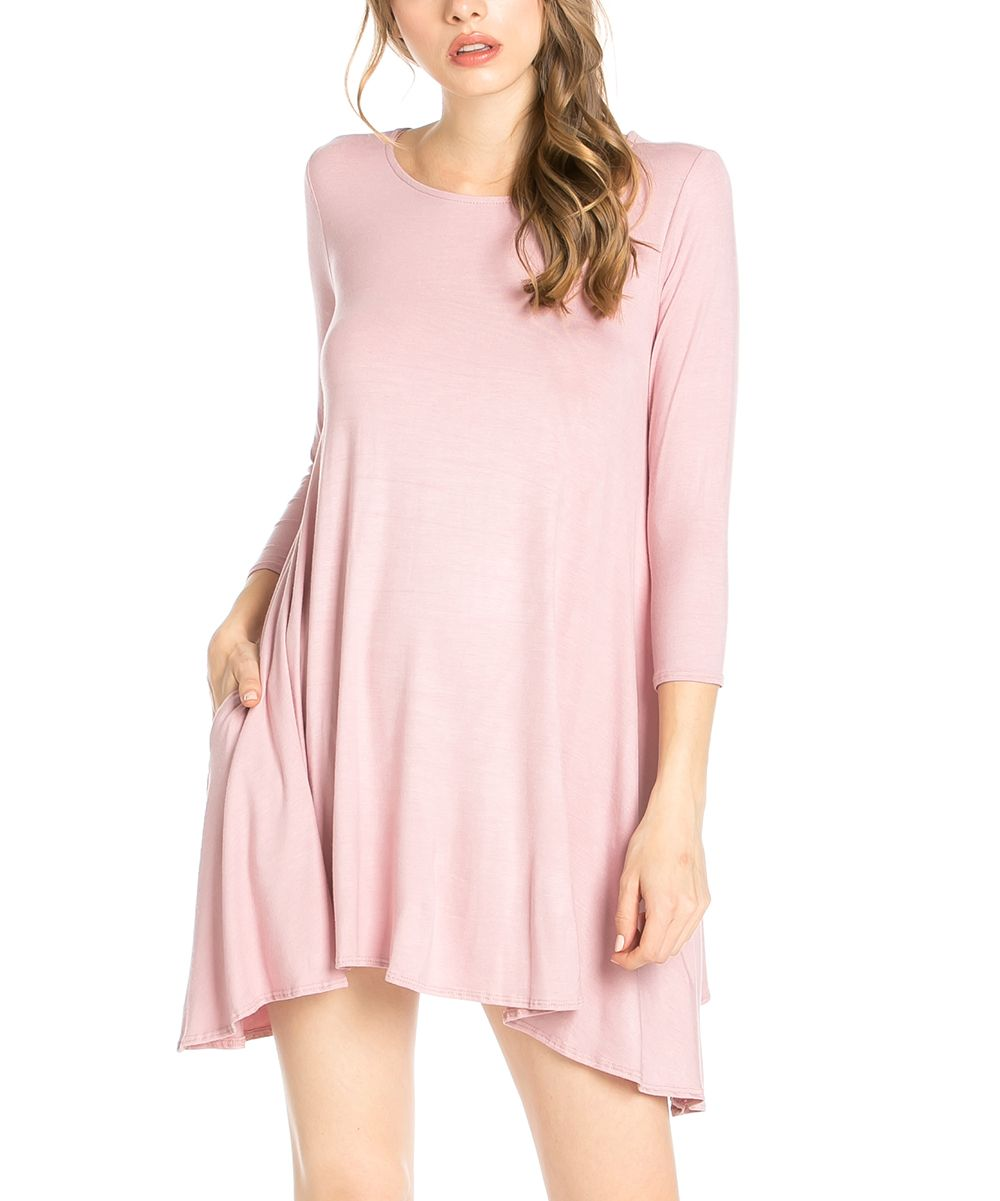 Mauve pocket sidetail tunic dress products pinterest products