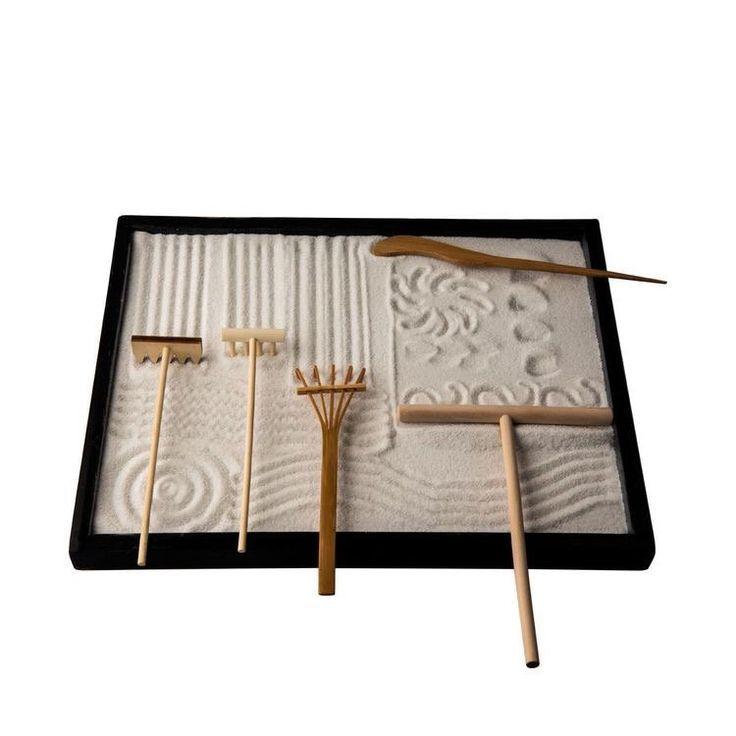 Miniature Mini Tabletop Zen Garden Kits Meditation Sand 400 x 300