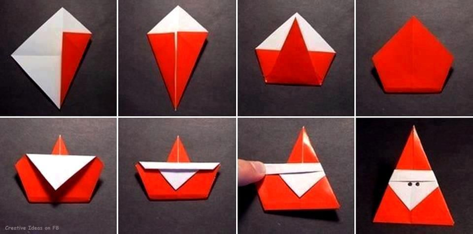 Телефон открытки, открытки дед мороз оригами