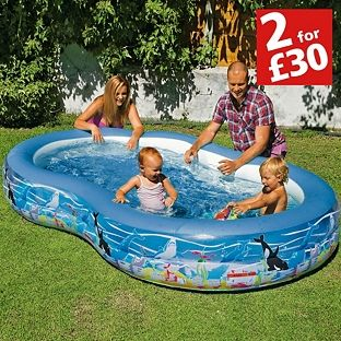 Buy Chad Valley 9ft Ocean Lagoon Kids Paddling Pool 500l Pools And Paddling Pools Argos Pool Ocean Print Argos