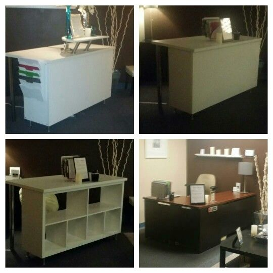 ikea reception desk hack empfangstheke ikea hack pinterest desk hacks reception desks and. Black Bedroom Furniture Sets. Home Design Ideas
