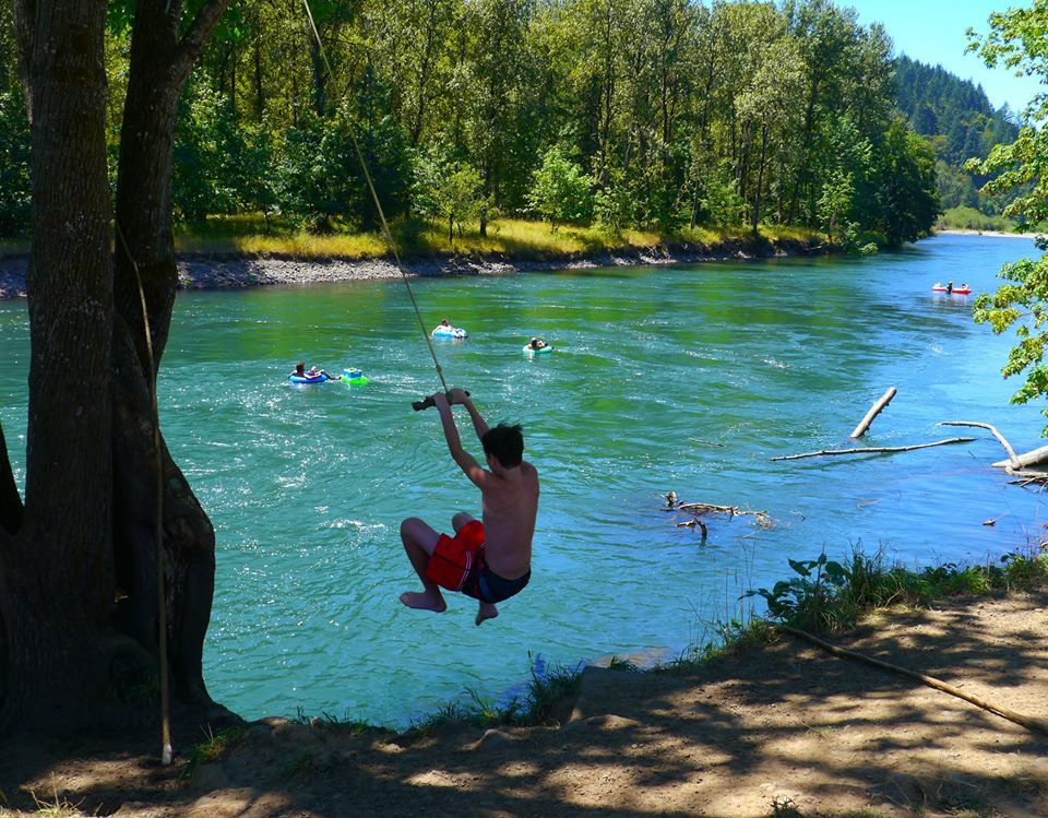 Cool off by safely jumping into the willamette river using