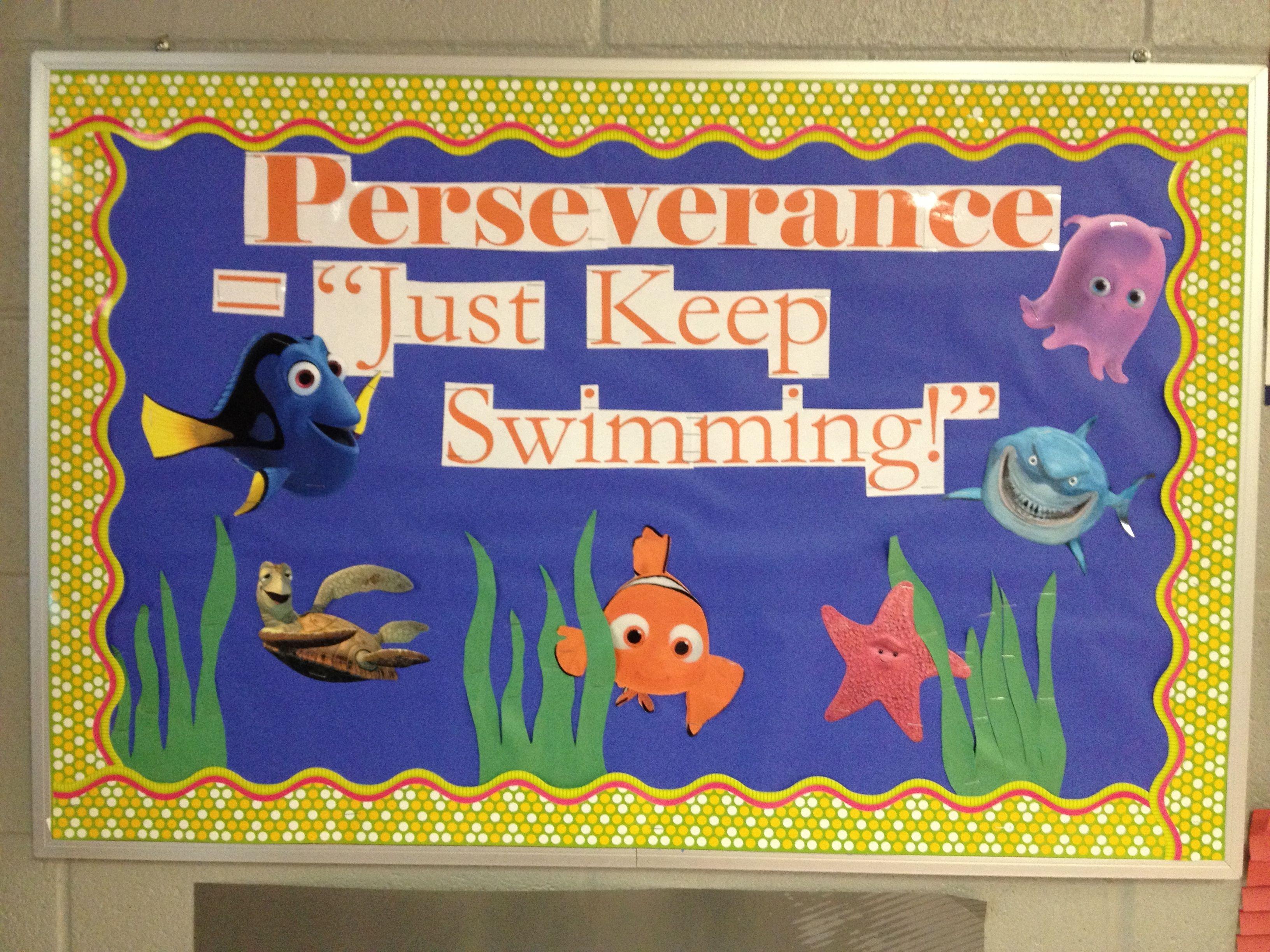 Perseverance Bulletin Board  Just Keep Swimming