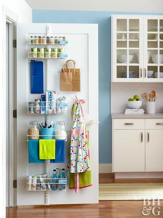 Store More With These Behind The Door Storage Ideas Pantry Door Storage Door Storage Home Organization