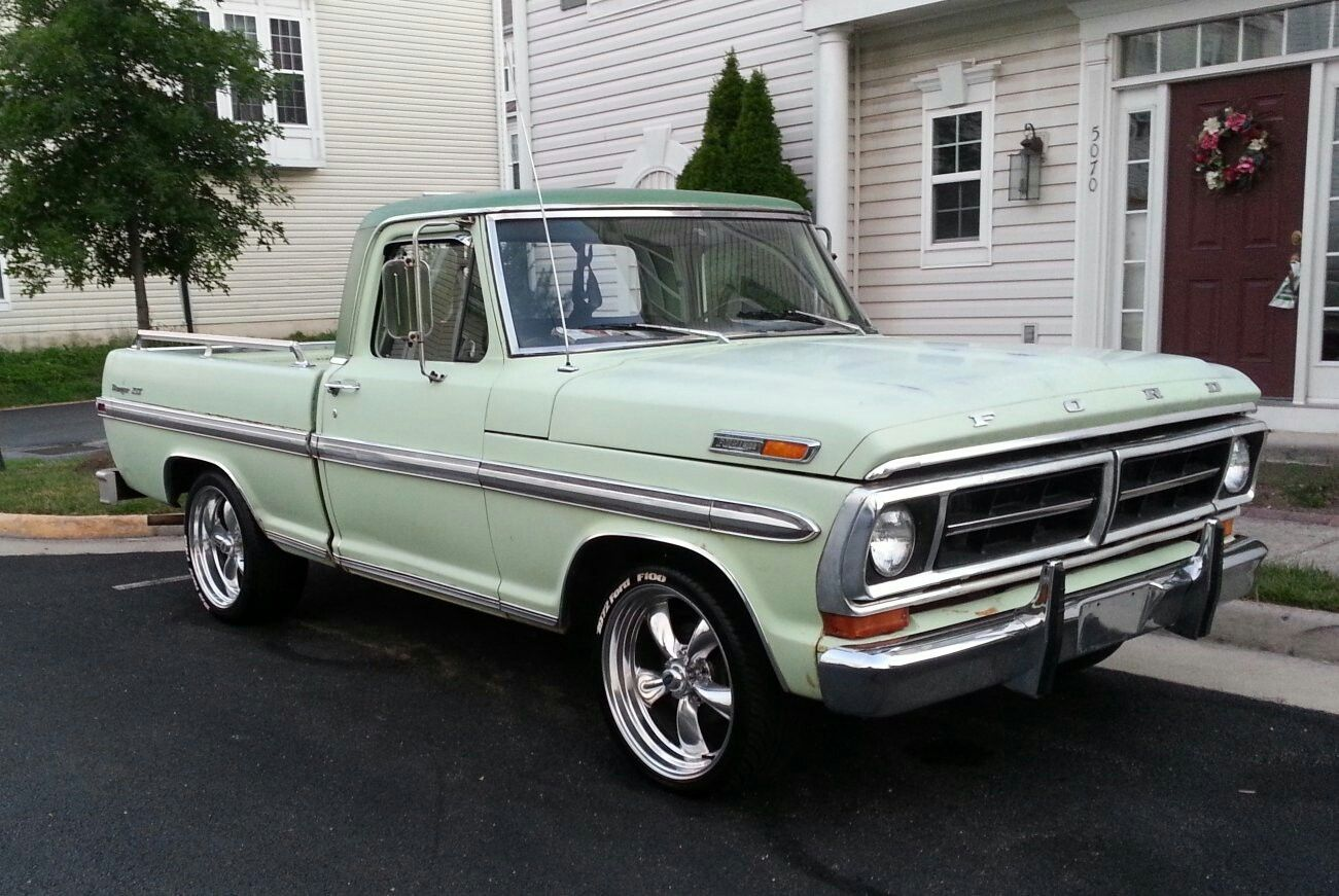 1972 ford f100 ranger 3 on the tree orignal paint engine transmission no rust