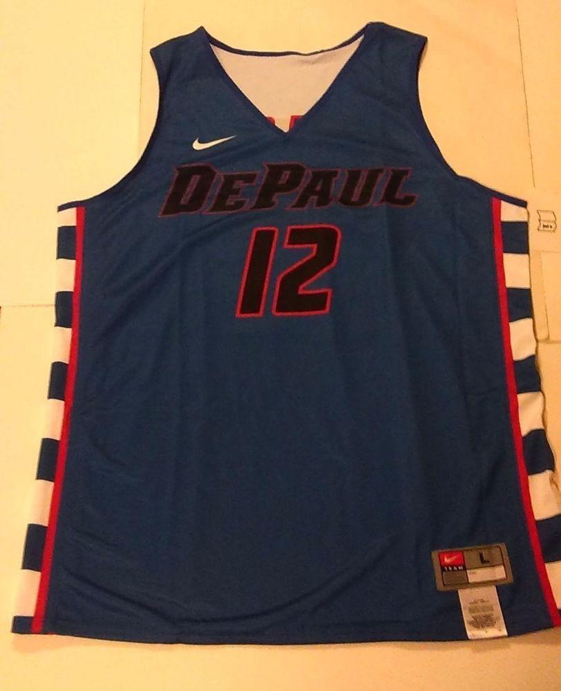 info for 3f323 c0149 Nike DePaul Blue Demons #12 Basketball Jersey Reversible ...