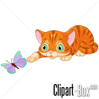 clipart kitten playing with butterfly cliparts pinterest rh pinterest com clip art kittens clipart kitchen