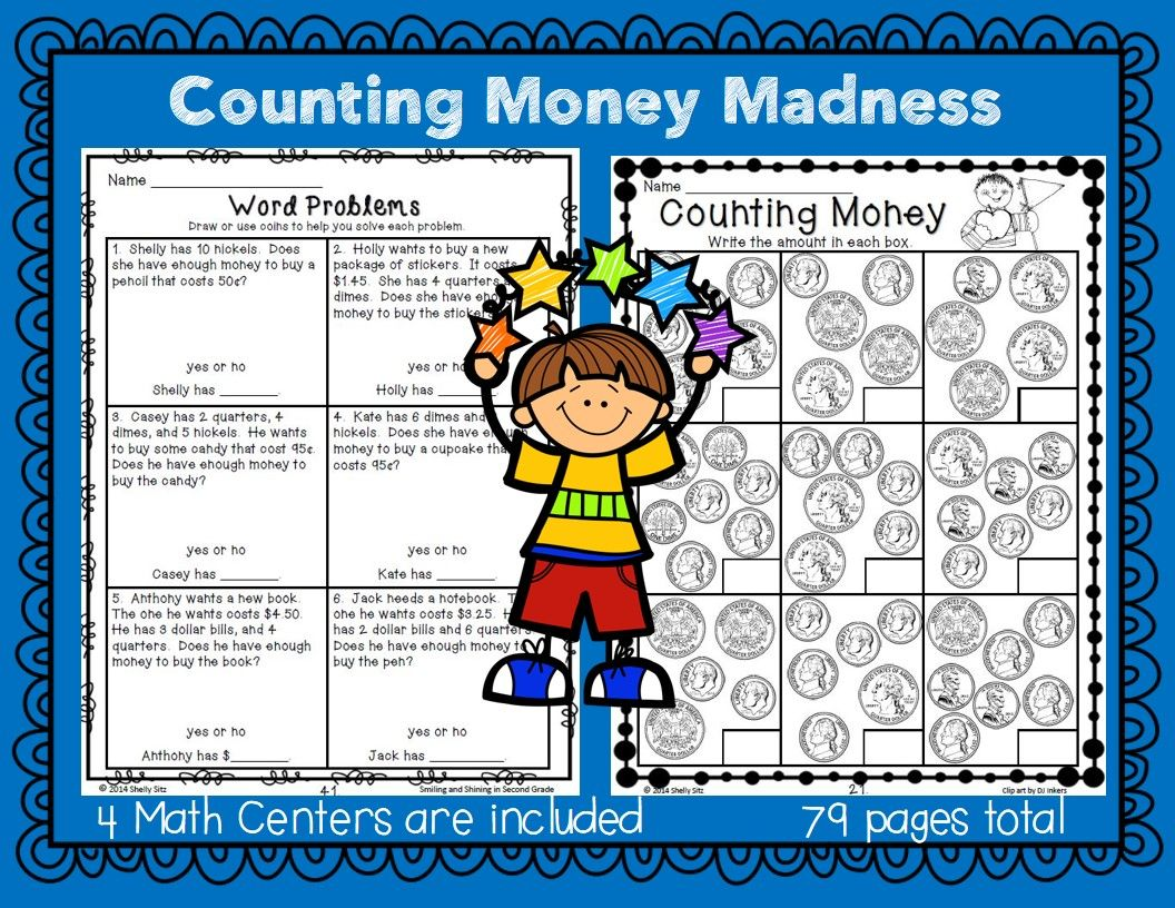 Counting Money Madness | Word problems, Math and Count
