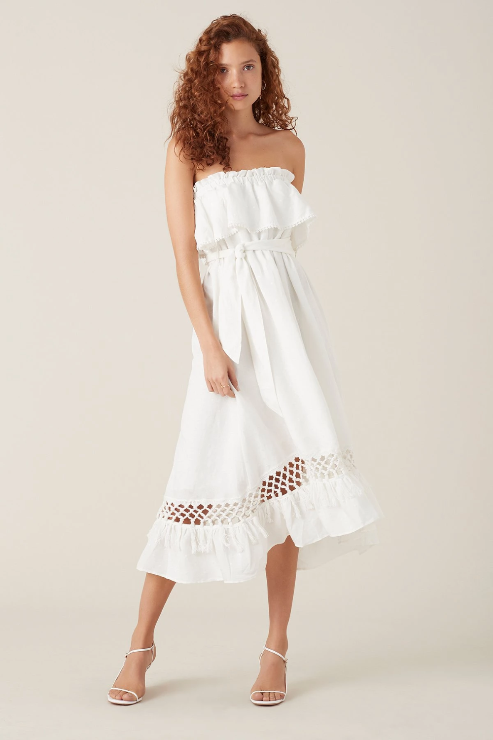Tigerlily Tanoosa Maxi Strapless Dress Dresses White Strapless Dress Maxi Dress