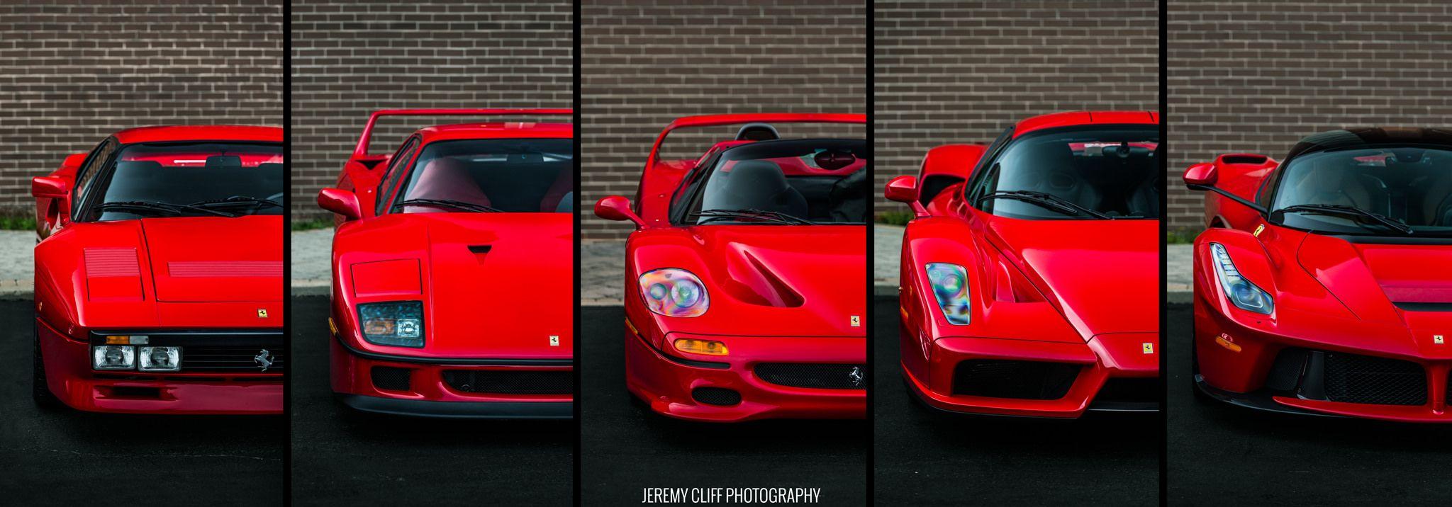5 Generations Of Ferrari Supercars Ferrari 288 Gto Super Cars Ferrari
