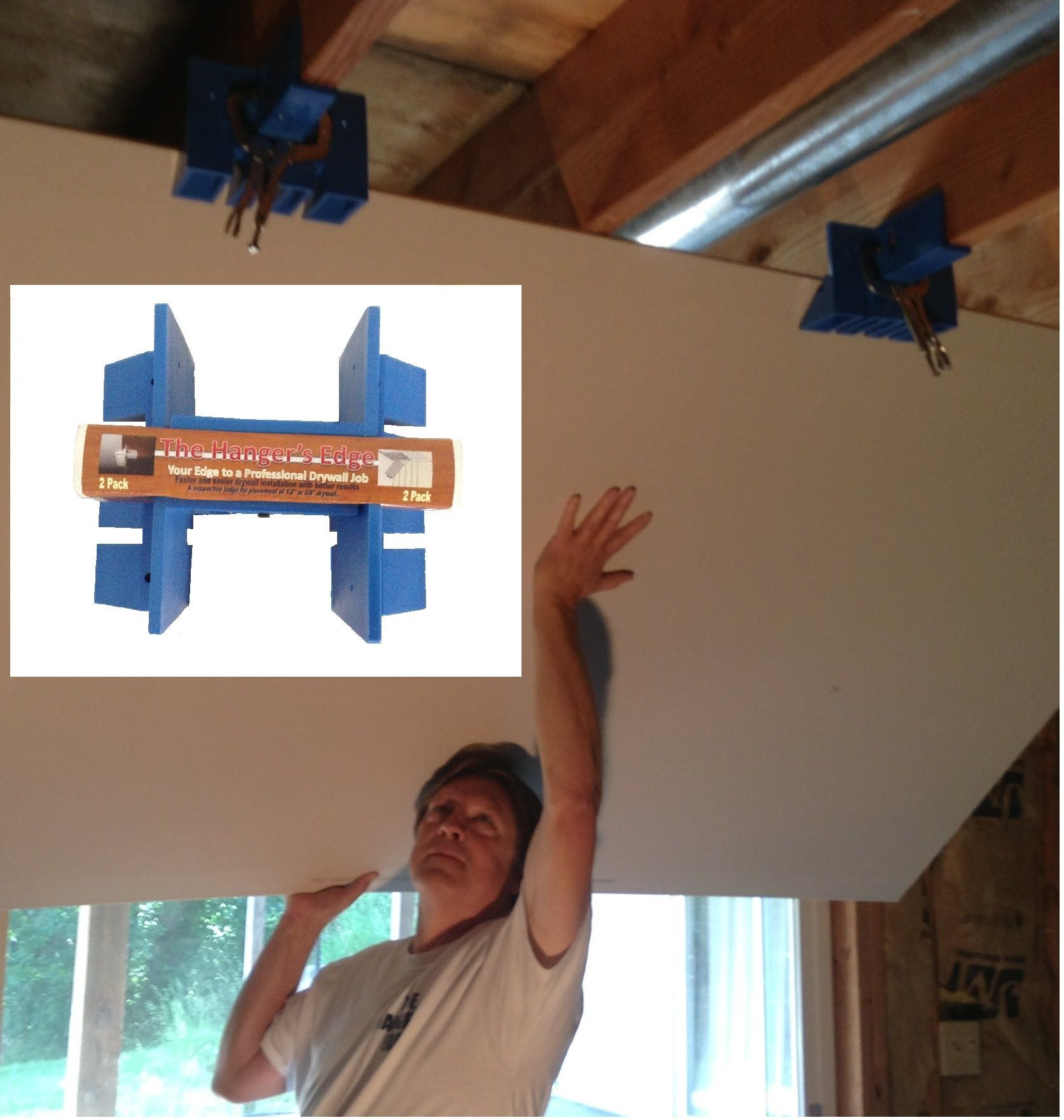 Drywall Installation Tool An Easy Better And Affordable Way To Hang D Drywall Installation Drywall Lift Drywall