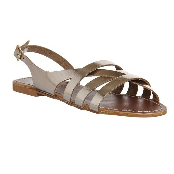 The Bamboo Sandals By Office Are A Stry Slingback Style With Buckle Fastening And Asymetric Strap Sandalsflatsleatherupper Leatherflat Heelp
