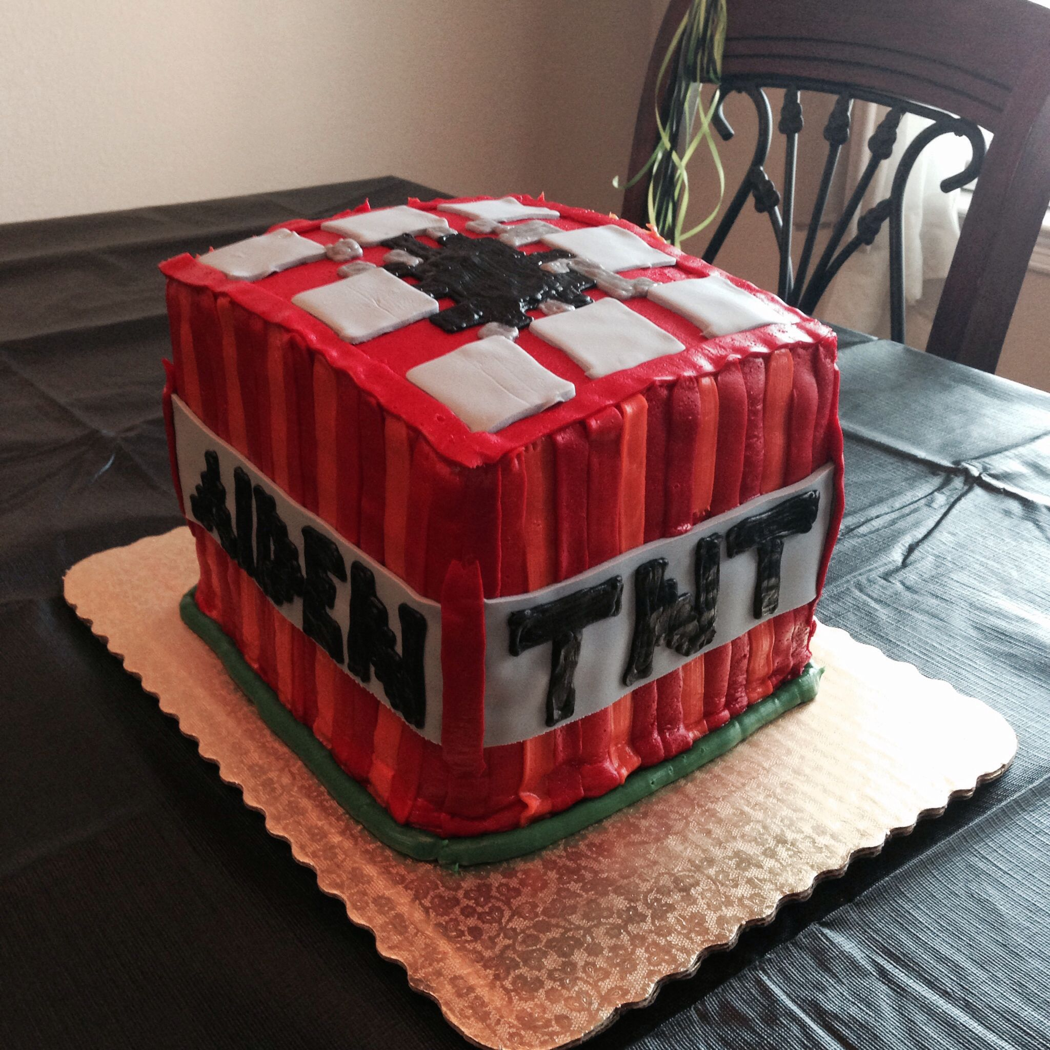 TNT Minecraft cake from Albertsons Should have been more clear on