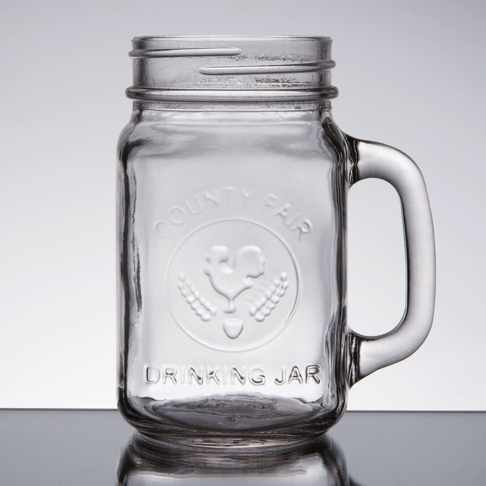 Core oz county fair mason jar drinking jar with handle